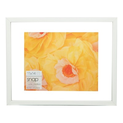 "Single Picture 11"" x 14"" Float To 8"" x 10"" Frame White - Gallery Solutions"