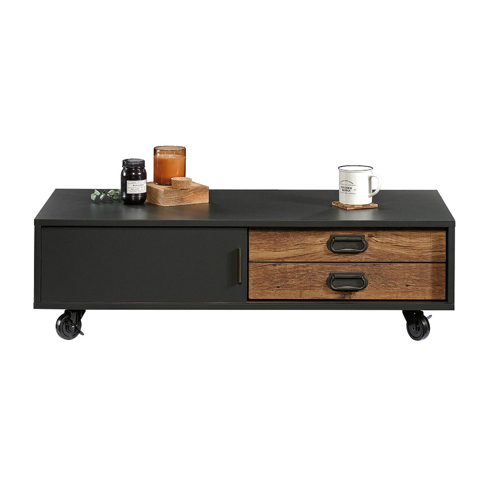 Sauder Boulevard Cafe Coffee Table Black With Vintage Oak Accents
