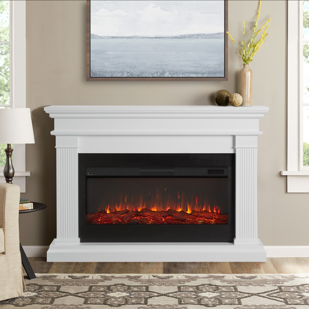 Beau Electric Decorative Fireplace White - Real Flame