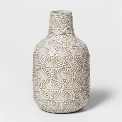 7.8  x 4.6  Stoneware Matte Vase White - Threshold™
