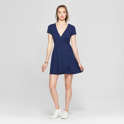 b45a9dbfb59d Women s Wrap Dress - Lots Of Love By Speechless (Juniors ) Navy M ...