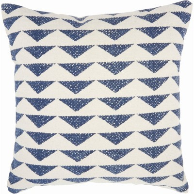 Life Styles Printed Triangles Oversize Square Throw Pillow Navy - Nourison
