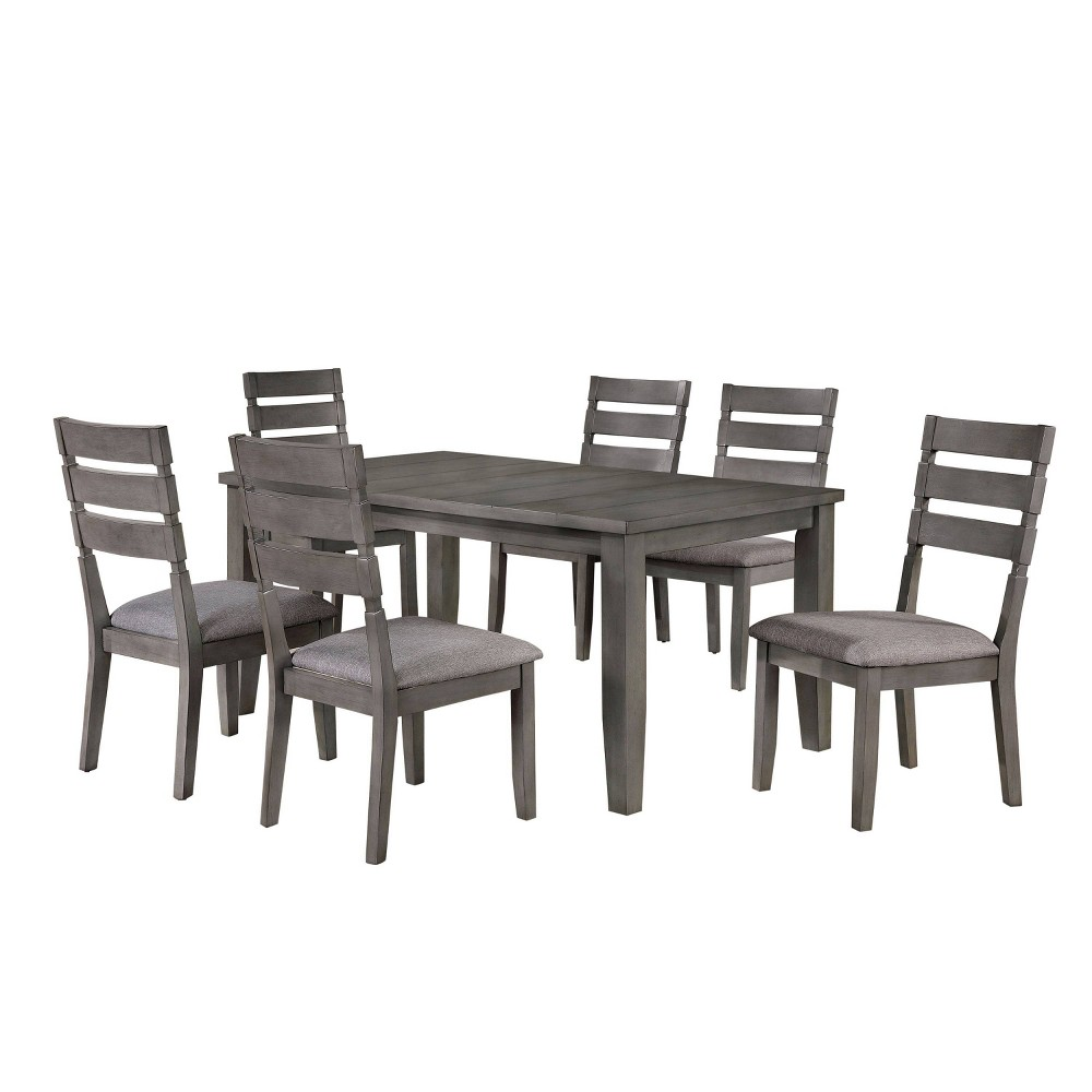 "Compare 64"" 7pc Ainsworth Dining Set Light Gray - HOMES: Inside + Out"