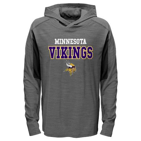 the best attitude a8a60 c6176 Minnesota Vikings Boys' Sideline Speed Gray Lightweight Hoodie XS