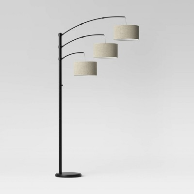 Traditional Three Arm Arc Floor Lamp (Includes LED Light Bulb) Oil Rubbed Bronze - Threshold™