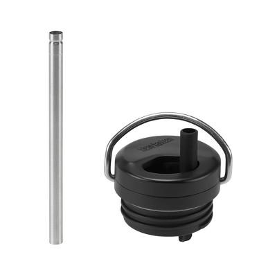 Klean Kanteen TKWide Stainless Steel Twist Open Straw Cap - Black