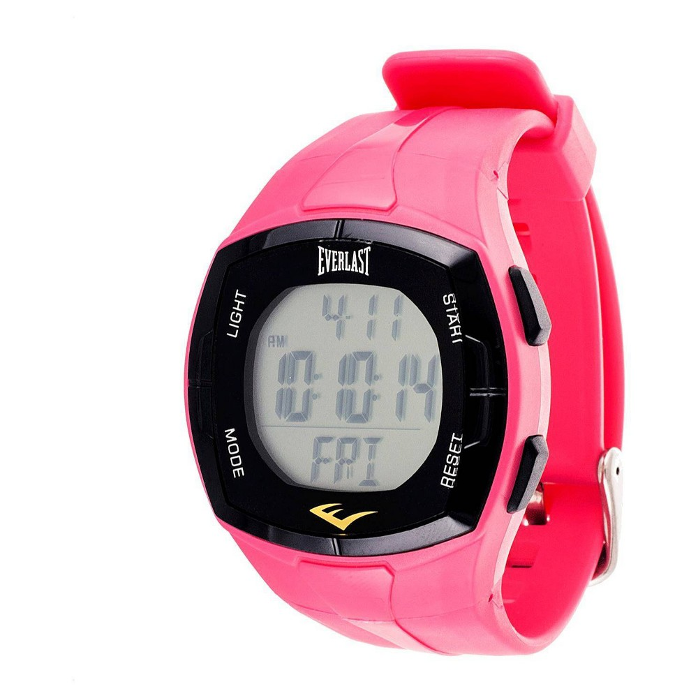 Men 39 S Everlast 38 174 Heart Rate Monitor Watch With Chest Strap Pink