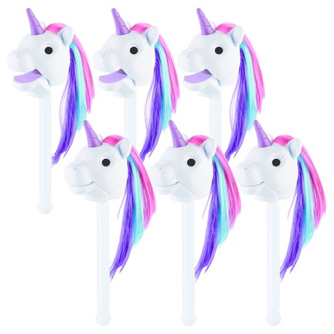 Educational Insights Rainbow Prancers Puppet-on-a-Stick - White Twinkle, Party Pack of 6 - image 1 of 3