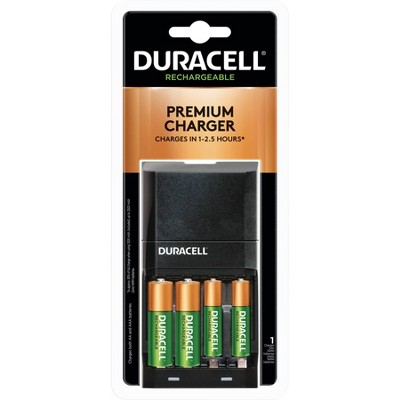 Duracell is4000 Battery Charger for NiMH AA/AAA Rechargeable Batteries - Includes 2 AA & 2 AAA Rechargeable Batteries