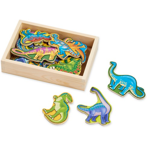 Melissa & Doug Magnetic Wooden Dinosaurs with Wooden Tray - 20pc - image 1 of 3