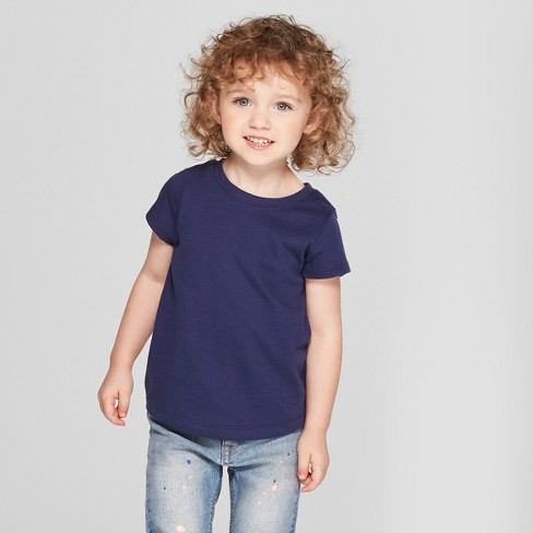 a439d09178d Toddler Girls  Short Sleeve T-Shirt - Cat   Jack™ Navy   Target
