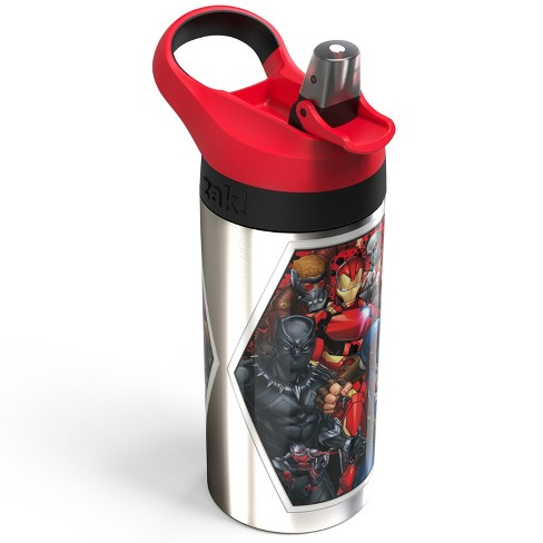Marvel 19.5oz Stainless Steel Water Bottle Red/Black - Zak Designs - image 1 of 3