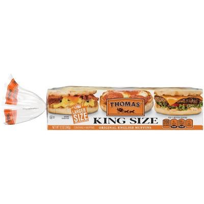 Thomas King Size English Muffins - 12oz
