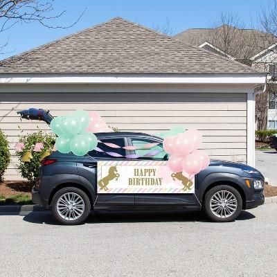 Sparkle Unicorn Birthday Parade Car Party Decoration Kit