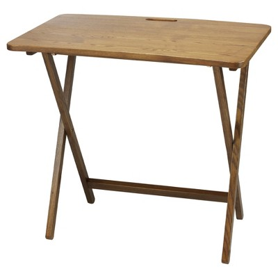 Folding Table with Solid American Red Oak - Flora Home