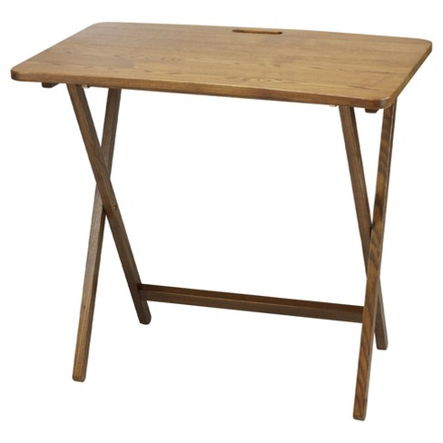 Folding Table with Solid American Red Oak -  Flora Home - image 1 of 4