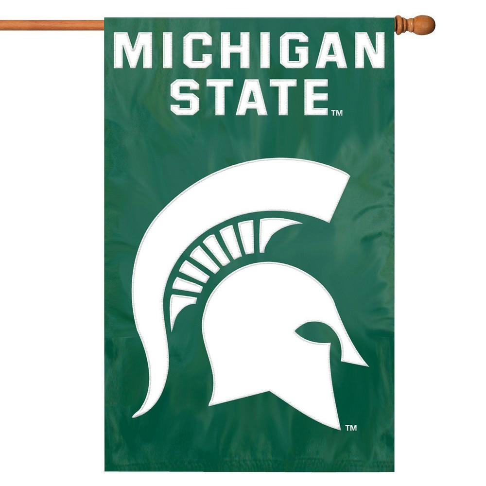 NCAA Team Applique Banner Flag - Michigan State Spartans