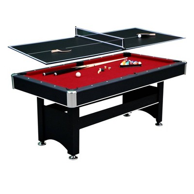 Hathaway Spartan 6' Pool Table with Table Tennis Conversion Top - Black