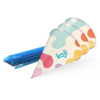 Koji 40pc Snow Cone Cups & Straws Set