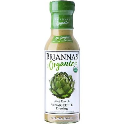 Briannas Organic Real French Vinaigrette Dressing - 10fl oz
