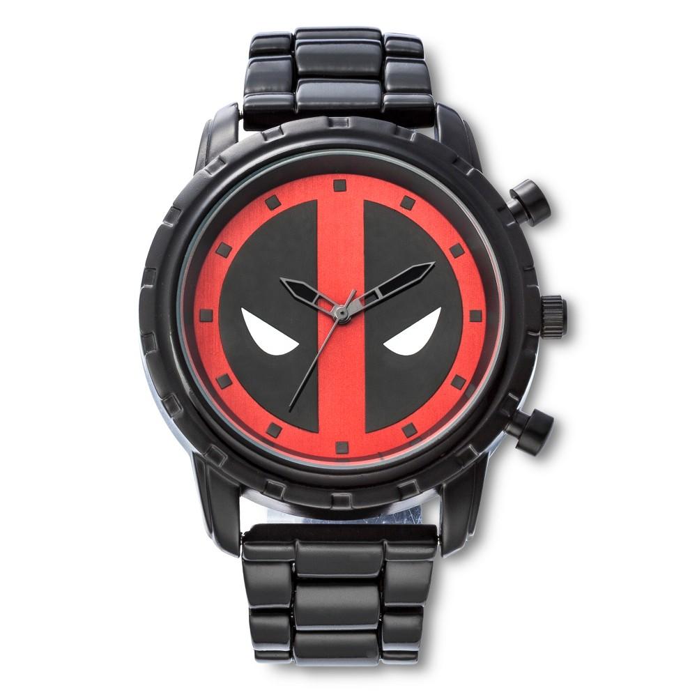 Image of Men's Marvel Deadpool Analog Watch - Black