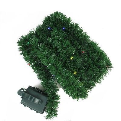 Brite Star 18' B/O Artificial Pine Garland with 35 Multi-Colored Micro Lights - Pre-lit