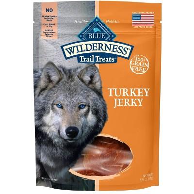 Blue Buffalo Wilderness 100% Grain-Free Turkey Jerky Dog Treats - 3.25oz
