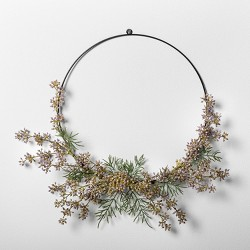 """12"""" Faux Wildflower Wreath - Hearth & Hand™ with Magnolia"""