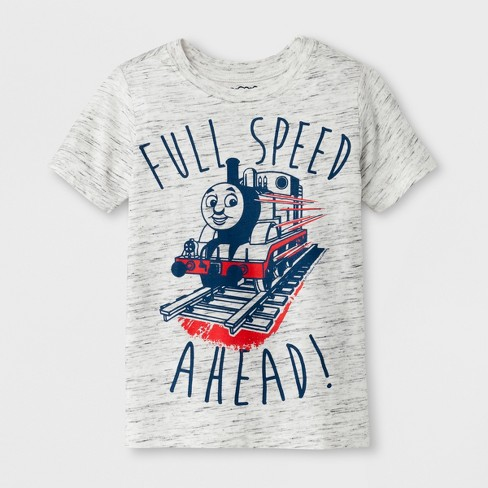 Toddler Boys' Thomas & Friends Short Sleeve T-Shirt Crew Neck - Grey - image 1 of 1