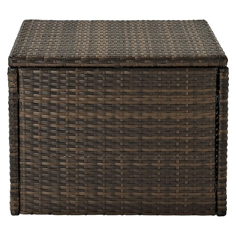 Outdoor Wicker Coffee Sectional Table - Brown - image 1 of 3