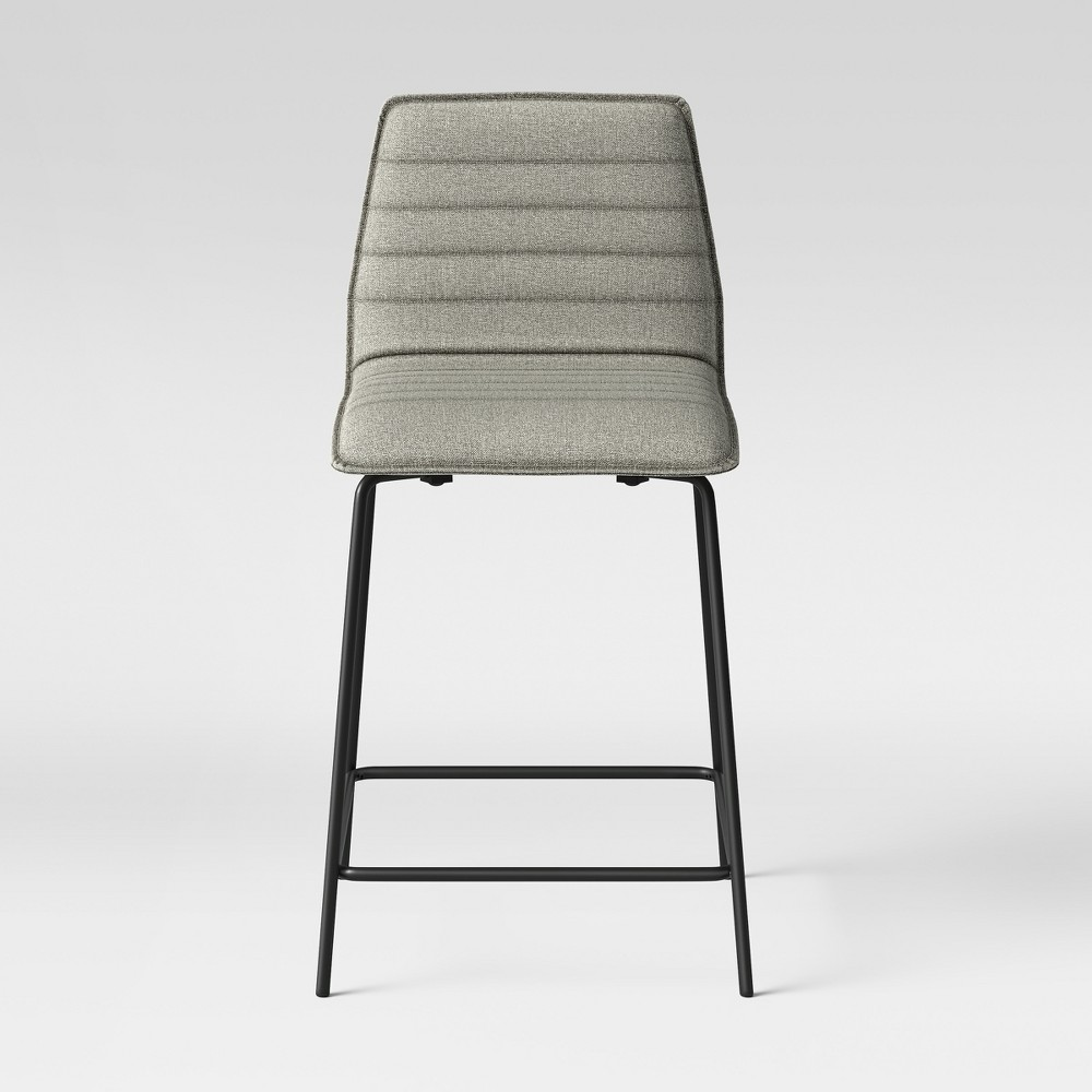 24 Salk Modern Quilted Counter Stool - Herbal - Project 62