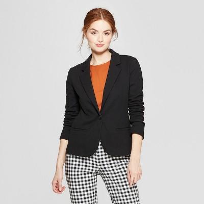 88df0a37 Women's Ponte Knit Blazer – A New Day™ Black XS – BrickSeek