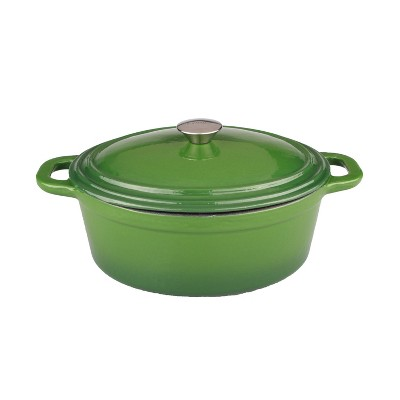 BergHOFF Neo 8 Qt Cast Iron Oval Covered Dutch Oven, Green