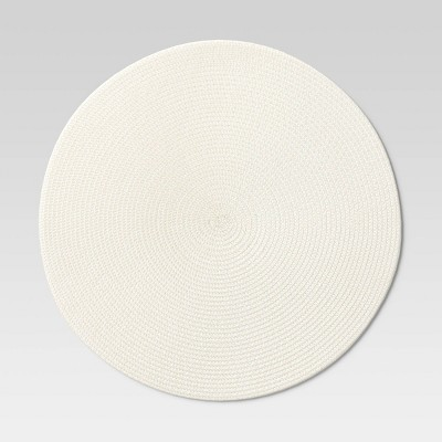 Polyround Charger Placemat Cream - Threshold™