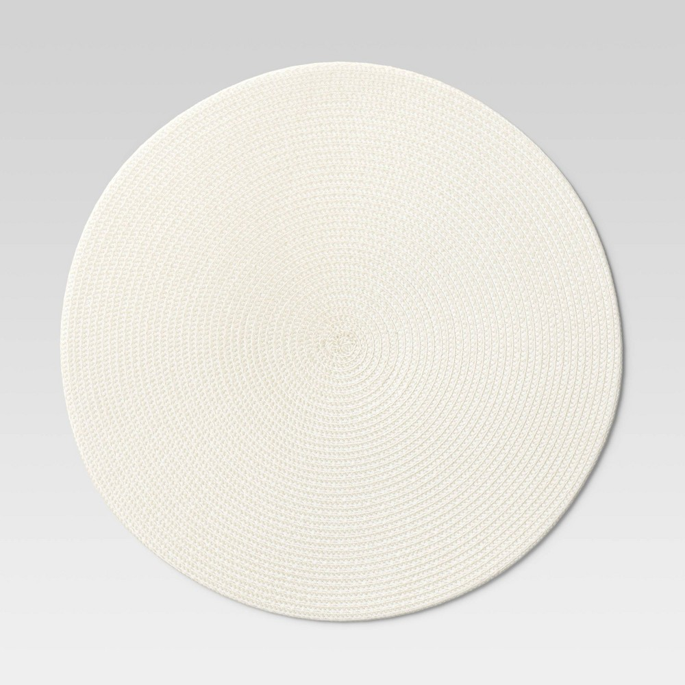 Polyround Charger Placemat Cream Threshold 8482