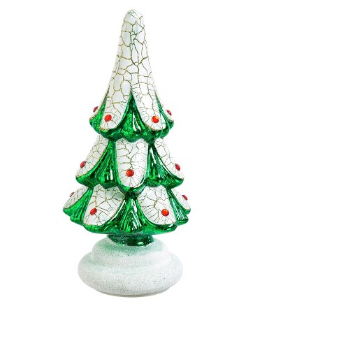 Glass Christmas Tree LED Décor - image 1 of 2