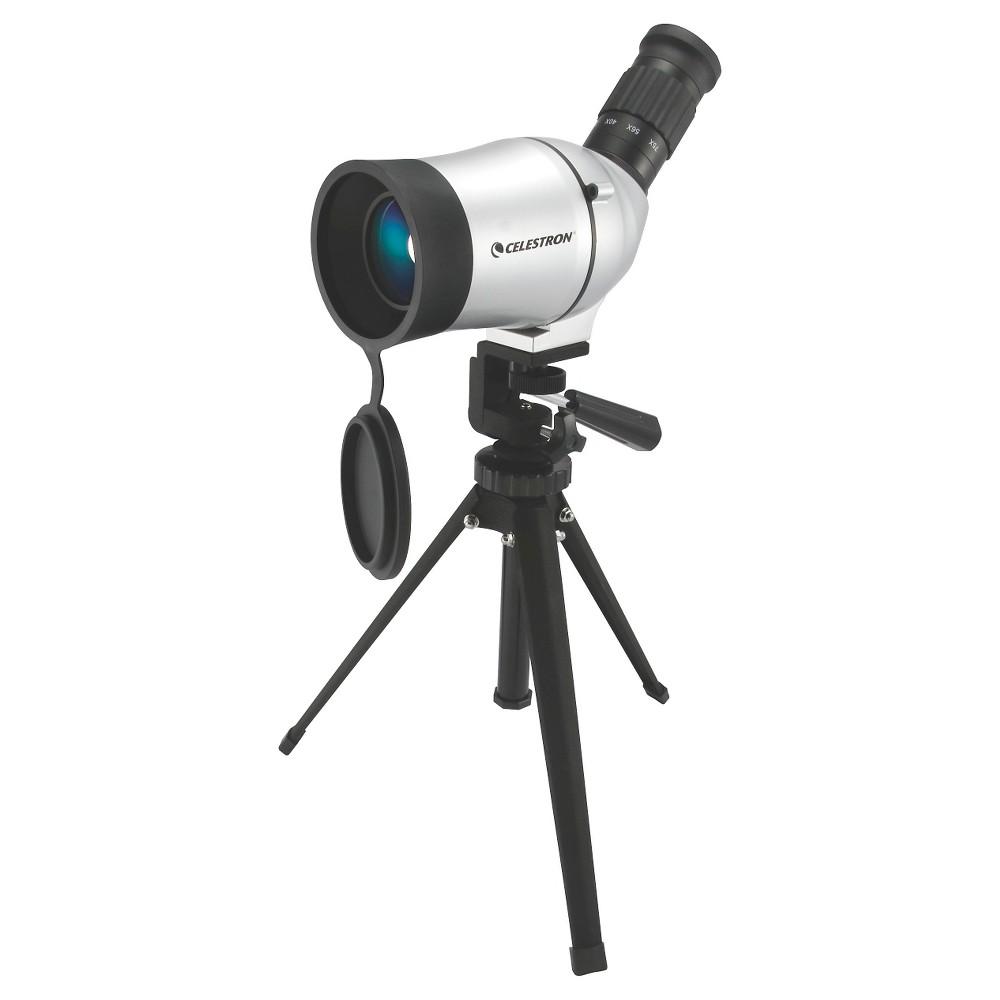 Celestron C50 Mini Mak - WaterProof Spotting Scope, Light Silver Celestron C50 Mini Mak - WaterProof Spotting Scope Color: Light Silver.