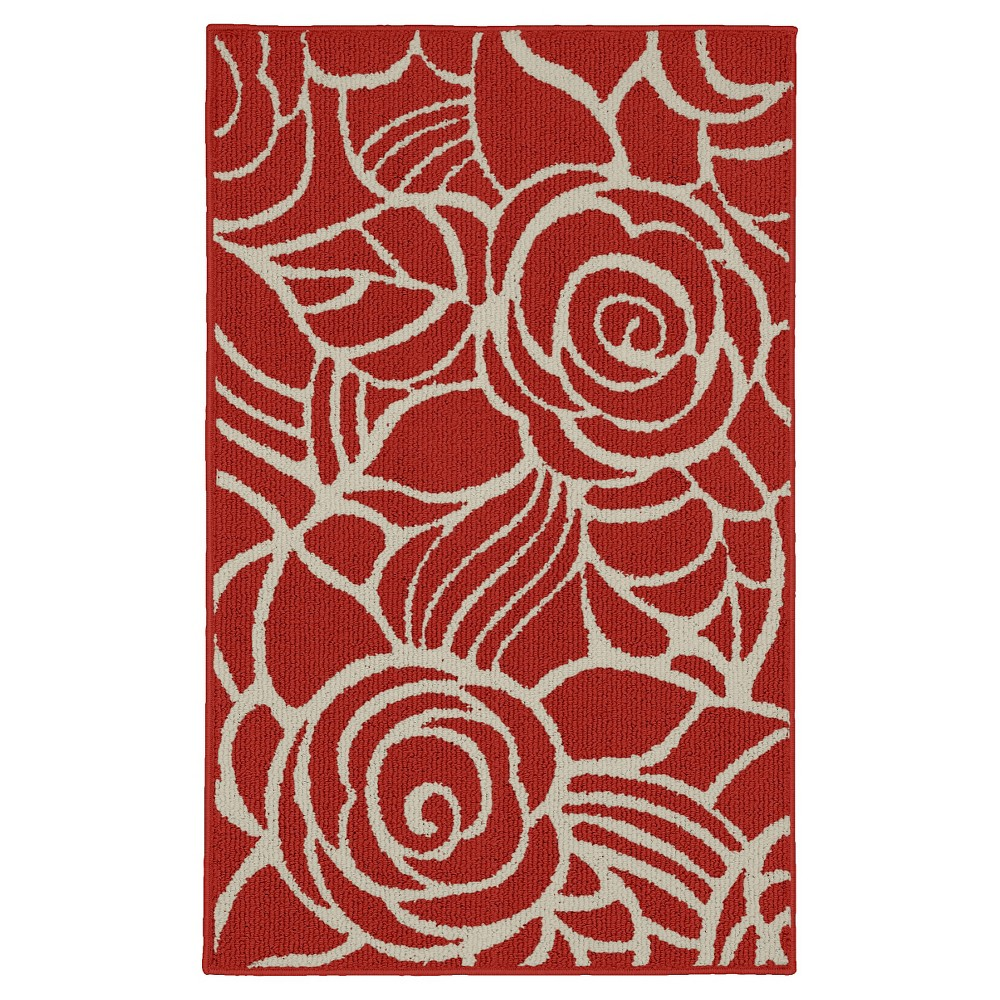 Garland Rhapsody Accent Rug - Coral/Ivory (Pink/Ivory) (3'4X5')