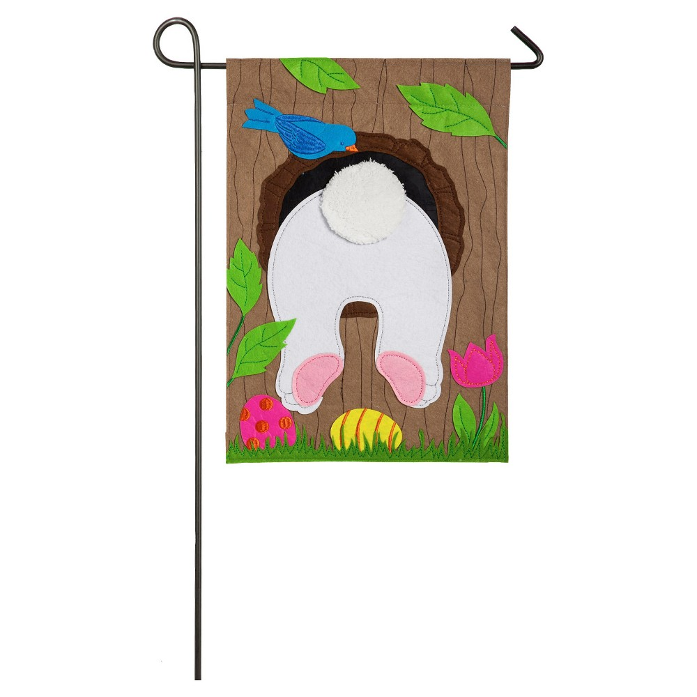 Easter Stuck in a Tree Garden Felt Flag, Multi-Colored