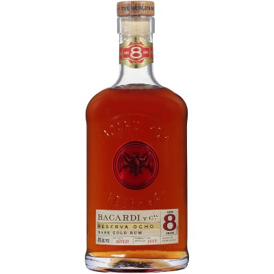 Bacardi Reserva Ocho 8yr Rare Gold Rum - 750ml Bottle