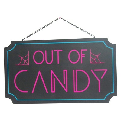 Halloween Out of Candy Lit Wall Sign Purple - Hyde and Eek! Boutique™