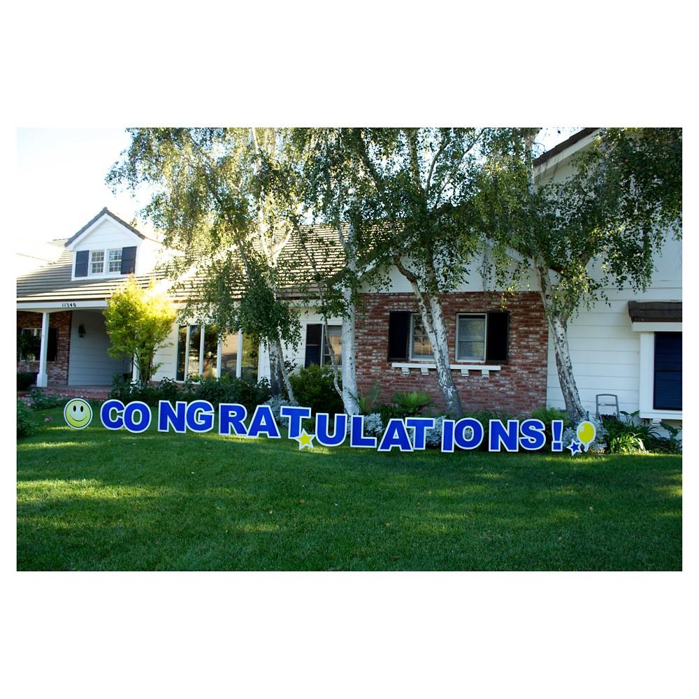 Congratulations Blue Yard Sign