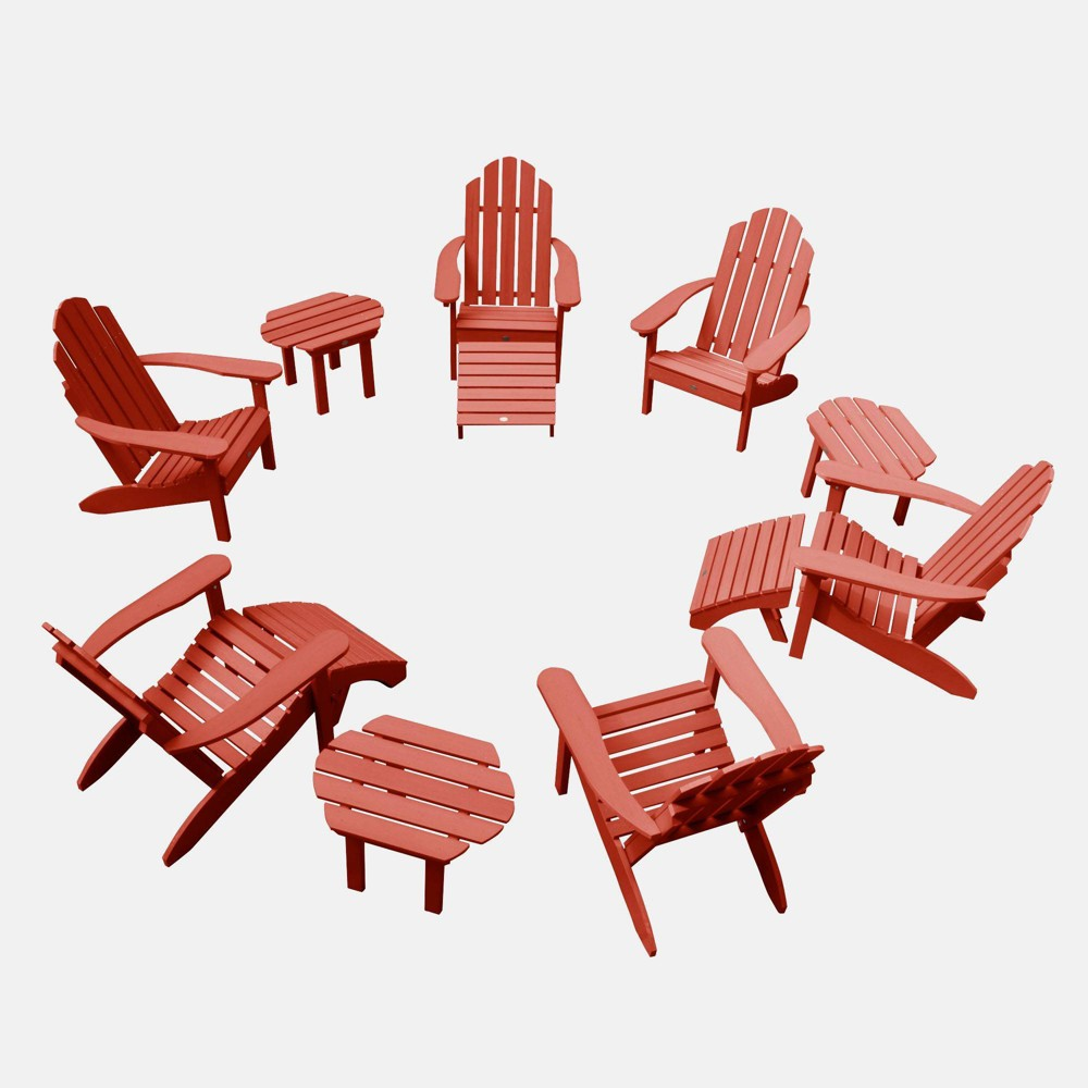 Image of 12pc Classic Westport Adirondack Patio Set Rustic Red - highwood