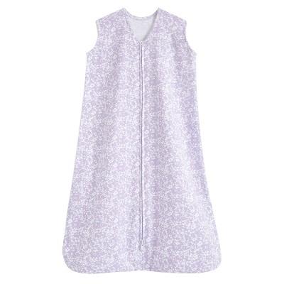 HALO SleepSack 100% Cotton Wearable Blanket - Aster Flowers Purple L