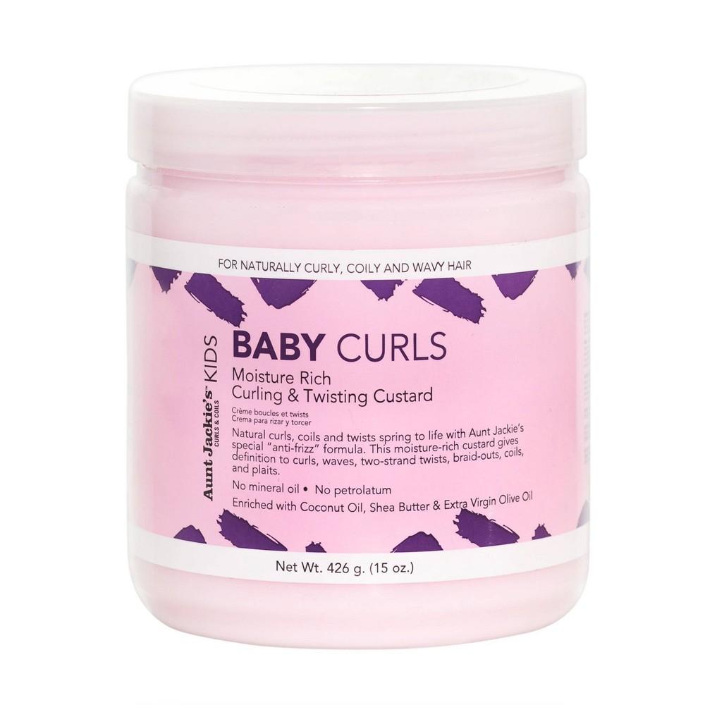 Image of Aunt Jackie's Kids Baby Curls Curling & Twisting Custard - 15oz