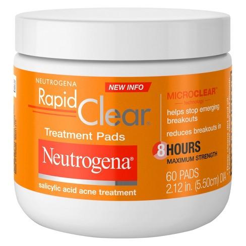 Neutrogena Rapid Clear Maximum Strength Treatment Pads - 60ct - image 1 of 3