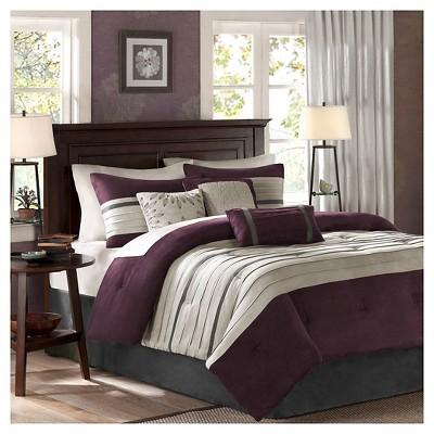 Dakota Colorblock Comforter Set (Full)Plum - 7pc