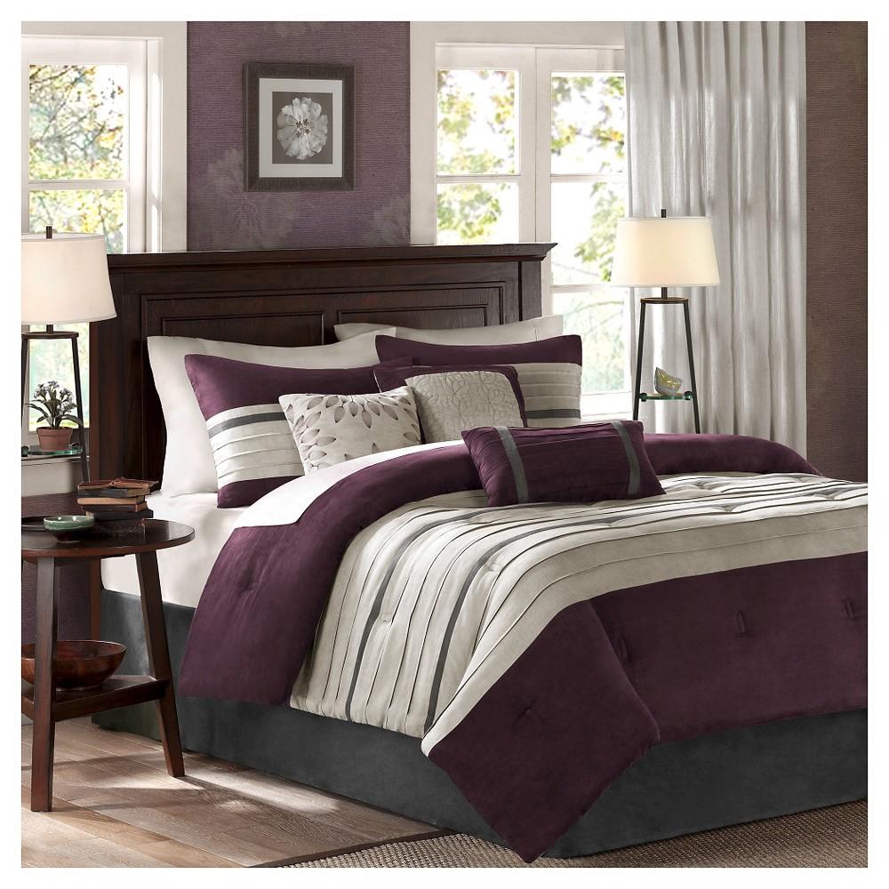 Dakota Colorblock Comforter Set Full Plum 7pc