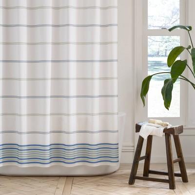 Purity Mineral Stripe Shower Curtain - Martex