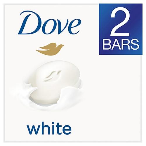Dove White Beauty Bar 4 oz, 2 Bar
